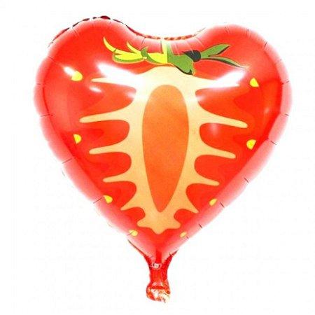 Balão Metalizado de Morango 6 unidades