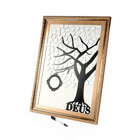 Árvore Deus Assinaturas com Moldura, Brasão e 100 corações