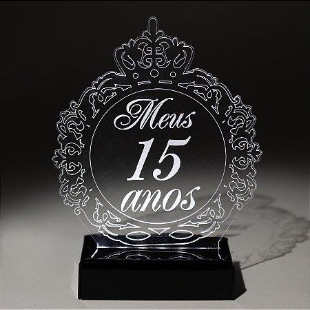 Topo de Bolo 15 anos com LED