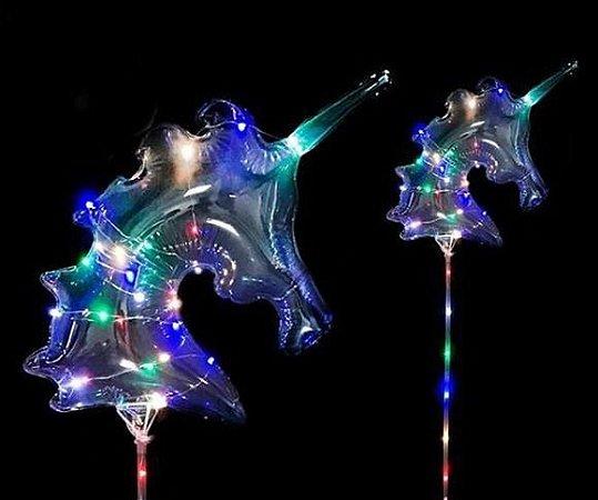 Kit 10 Balões de LED Unicórnio Completo