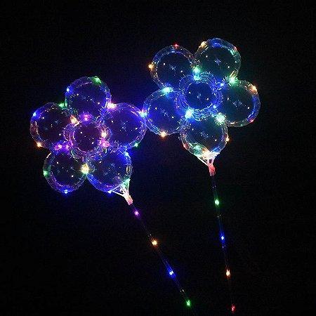Kit 10 Balões de LED Flor completo