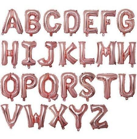 Balão Metalizado Rose Alfabeto Médio