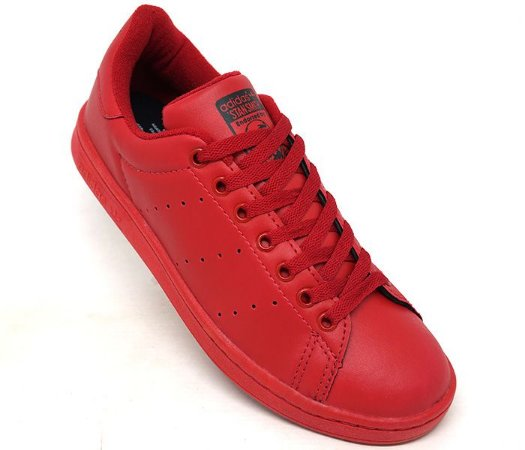268bf311e92 Tênis Adidas Stan Smith Vermelho - Jb acessórios Loja Virtual