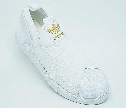 32f634c129 Tênis Adidas Superstar Slip-On Branco - jb Calçados feminino e masculino