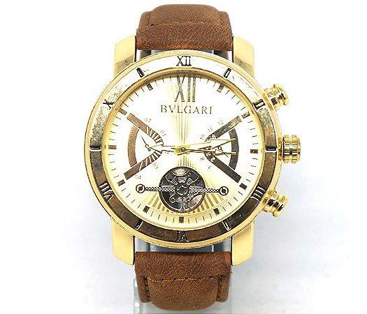 5e8836390d0 Relógio Diesel Dourado com Pulseira de Couro - jb Calçados feminino ...