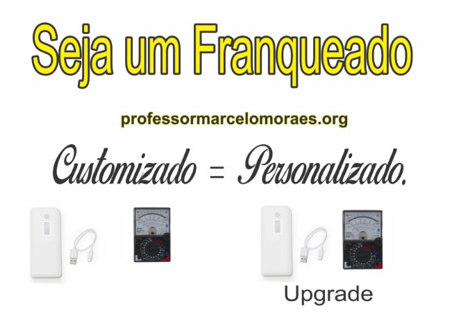 9 -  Cota 0,2 % para Sócio & Franqueado: Bateria Externa Power Bank Celular e Tlabet professormarcelomoraes.org 10000mAh único com monitor de Tensão e Corrente.