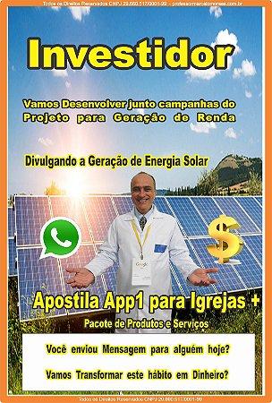 1 - Inscrição e Consultoria para Investidor  + Franquia de Página do Projeto Geração de Renda no site Professormarcelomoraes.com.br
