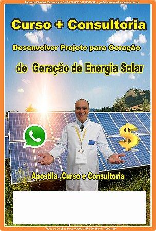 Contratar Curso + Consultoria Geração de Energia Solar