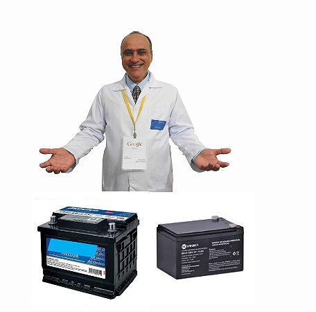 Curso e Apostila Recuperação de Baterias Padrão 12 volts