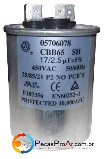 Capacitor 17+2,5MF 450V 38KQE07S5