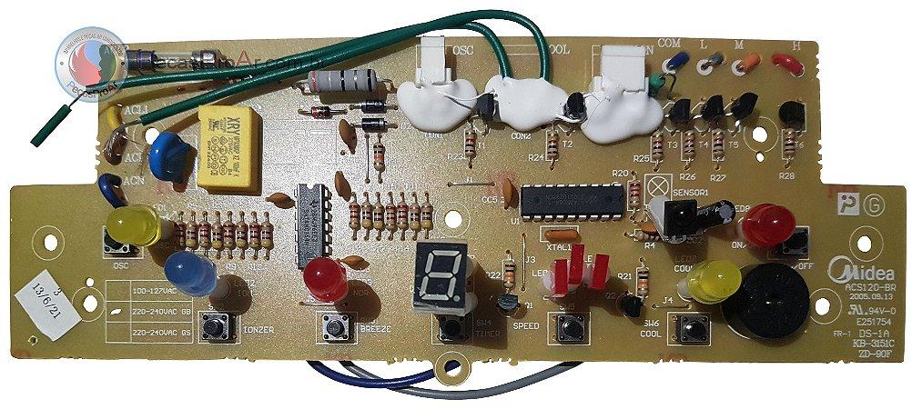 Placa Display Climatizador Midea MVAC120BCR