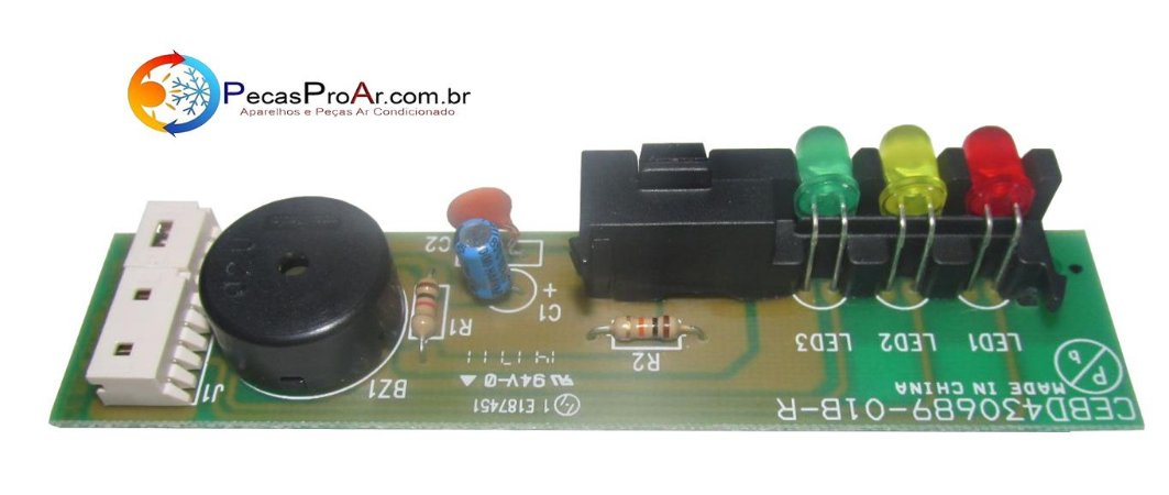 Placa Display Carrier Miraggio Cassete 36.000Btu/h 40KMC0360BA02THC