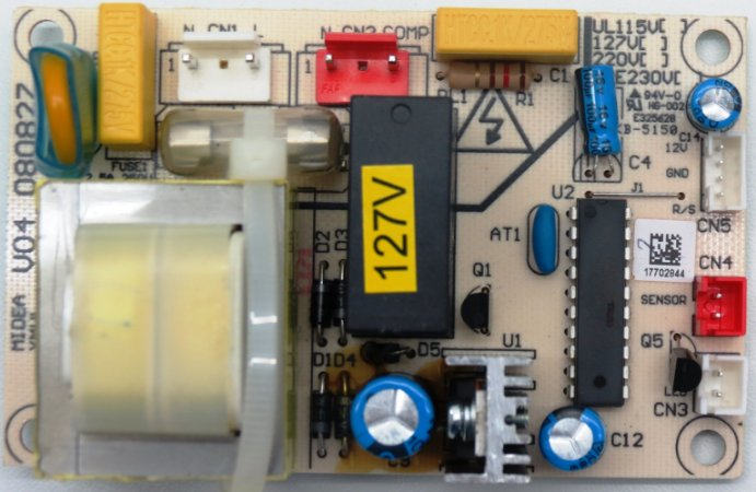 Placa Eletrônica Adega Midea Magno 23 garrafas MWC23-HS1V