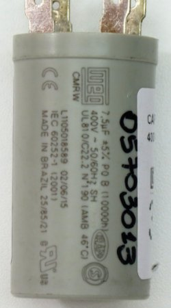 CAPACITOR 7,5UF 400VAC P0 42BBA036A510HDCZ