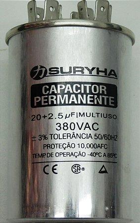 CAPACITOR PERMANENTE 20+2.5uf-380V
