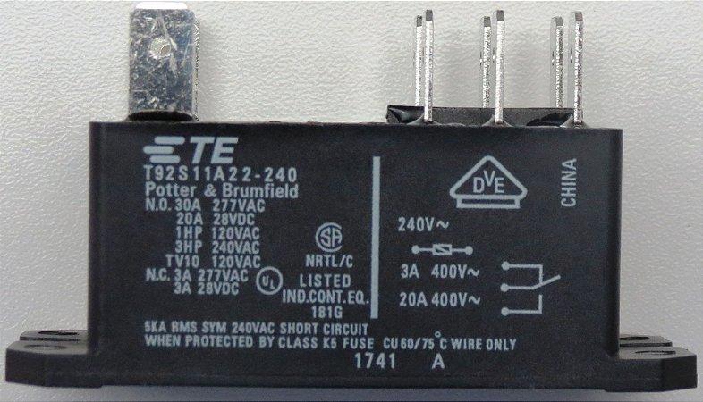 Rele Condensadora 220VAC 30A Ar Condicionado Springer Silvermaxi 30.000Btus 38KQA030515MS