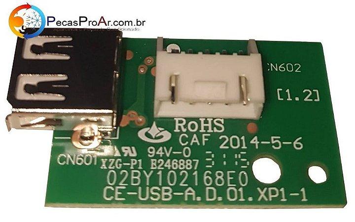 Placa Eletrônica Com Usb Para Wifi Midea Liva Split Hi Wall 9.000Btu/h 42VFCA09M5