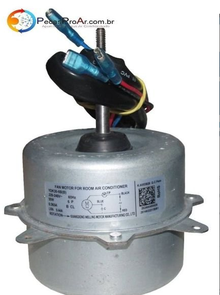Motor Ventilador Condensadora Midea Split Hi Wall 9.000Btu/h 38MLCA09M5