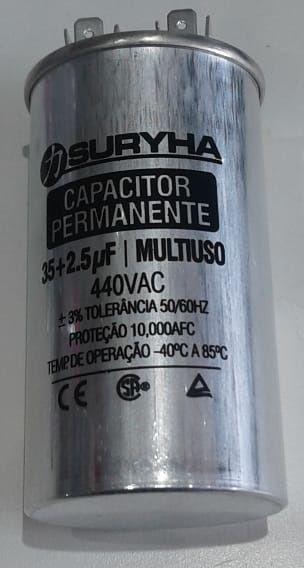 Capacitor Duplo 35+2,5MF 440V