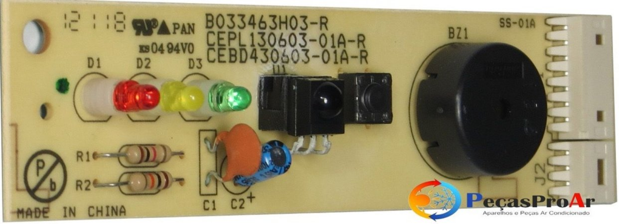Placa Display Piso-Teto Carrier SilverMaxi Quente/Frio