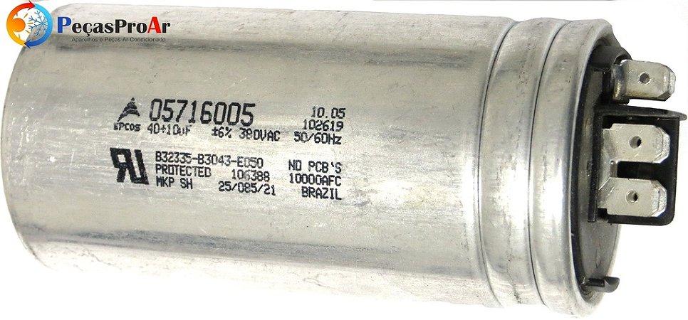 Capacitor 40/10MF 380V