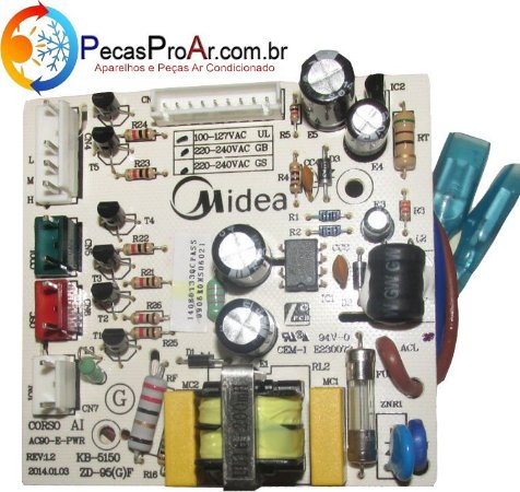 Placa Eletrônica Climatizador Midea Wind SCAFRB2 127V