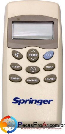 Controle Remoto Piso Teto Springer SilverMaxi 42XQC060515LS