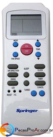 Controle Remoto Hi Wall Springer Maxiflex 42MQC007515LS