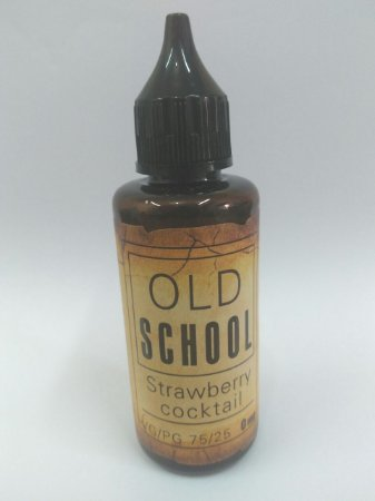 E-Liquid Old School Strawberry Cocktail 50ML - 75 VG / 25 PG