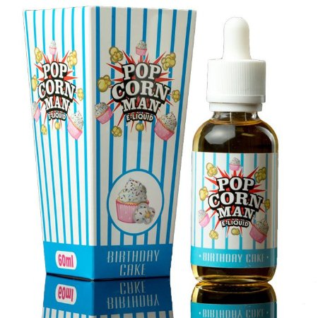 Pop Corn Man E-liquid Birthday Cake 60ml - 3mg nicotina