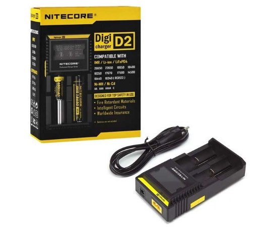 Nitecore® D2 Carregador Inteligente de Bateria
