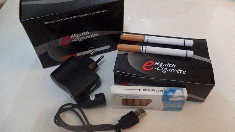 Kit cigarro eletrônico E-Health Iniciante Duplo com 20 refis