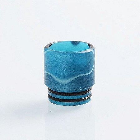 Drip Tip 810 - TFV8 / TFV12 / Goon / Kennedy - azul mesclado, resina, 16mm