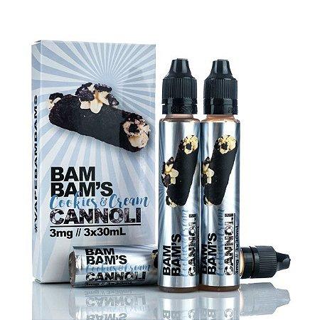 E-liquid Cookies e Cream - BAM BAM'S CANNOLI 90ML 3MG Nicotina