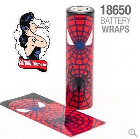 Vaper Wraper para baterias 18650 Homem Aranha