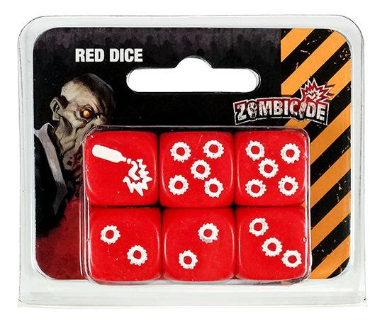 Conjunto com 6 Dados Vermelhos Personalizados - Acessório para Zombicide