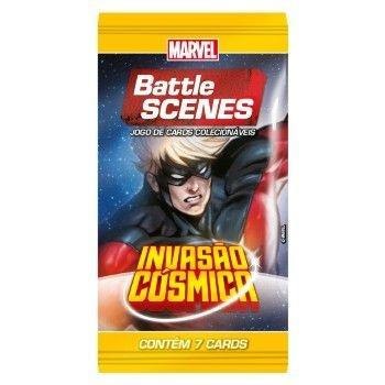 Booster Capitão Marvell - Invasão Cósmica - Battle Scenes - Jogo Nacional!