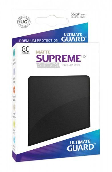 Sleeves Ultimate Guard - Supreme Standard Matte Black c/80