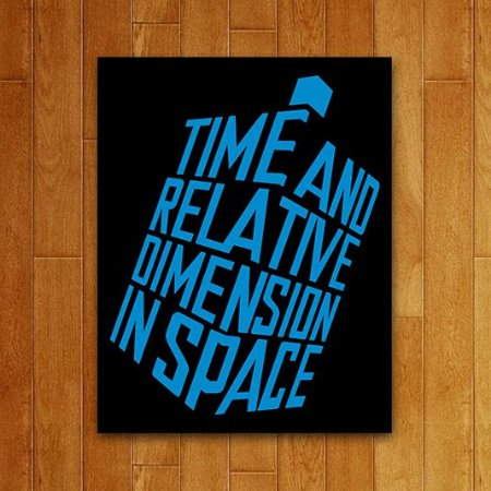 Placa Decorativa - Time and Space