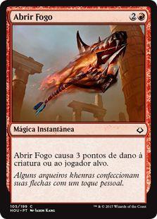 HOU 105 - Abrir Fogo (Open Fire) FOIL