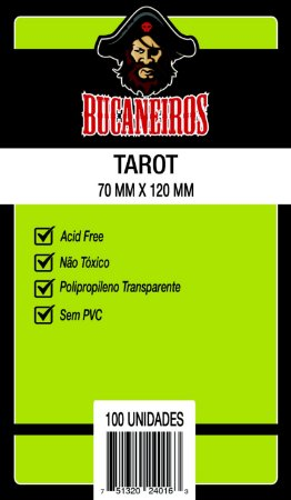 Sleeves Bucaneiros - Tarot 70x120mm c/100