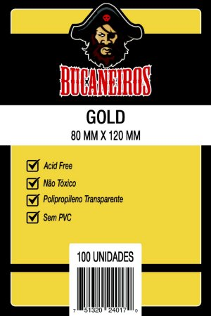 Sleeves Bucaneiros - Gold 80x120mm c/100