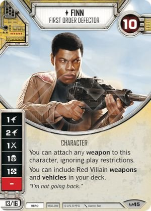 Finn Desertor da Primeira Ordem - Finn First Order Defector
