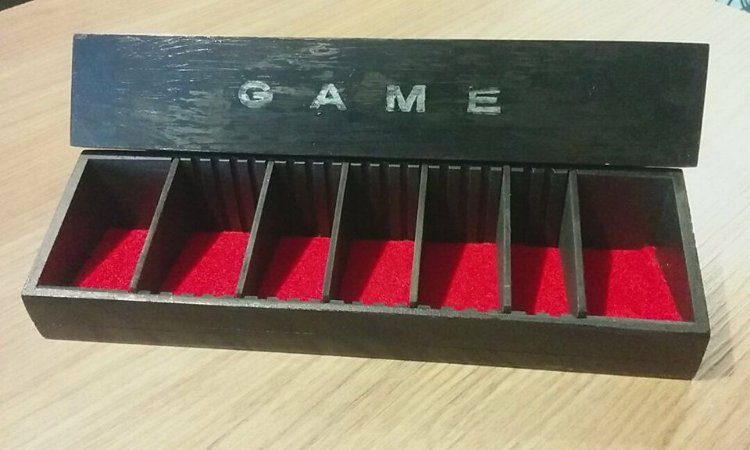 Game Holder - Art Board Games - Preto com Veludo