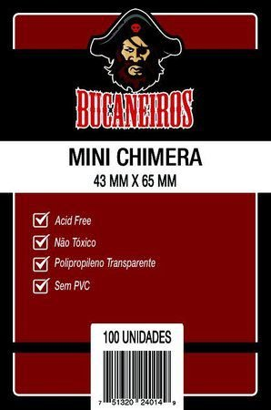 Sleeves Bucaneiros - Mini Chimera 43x65mm c/100