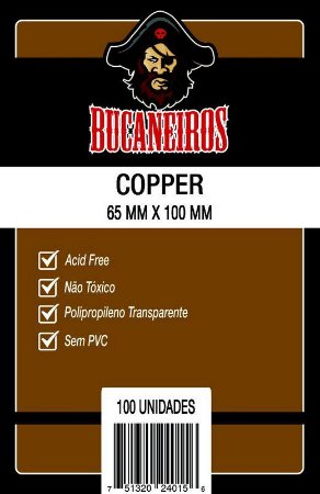 Sleeves Bucaneiros - Copper 65x100mm c/100