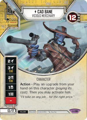 SWDEAW018 - Cad Bane Mercenário Cruel - Cad Bane Vicious Mercenary