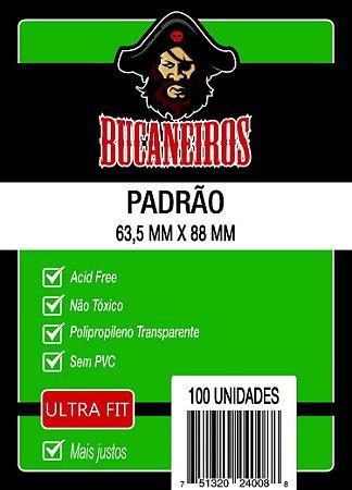 Sleeves Bucaneiros - Padrão ULTRA FIT 63.5x88mm c/100 - Para Magic e Pokemon