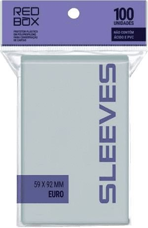Sleeves Redbox - Euro 59x92mm c/100