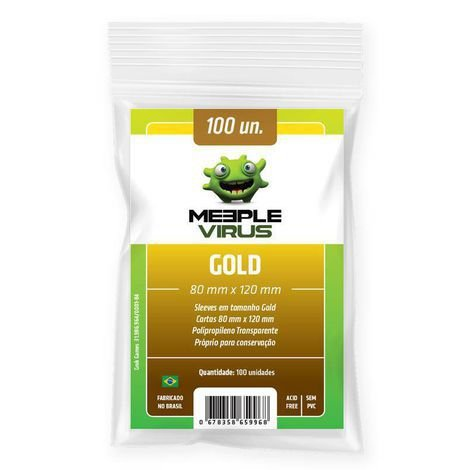 Sleeves Meeple Virus - Gold 80x120mm c/100